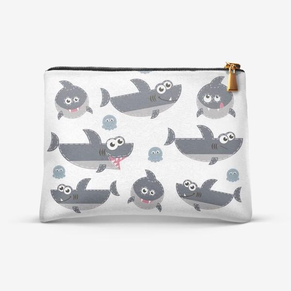 Косметичка «Акулы веселые и забавные»