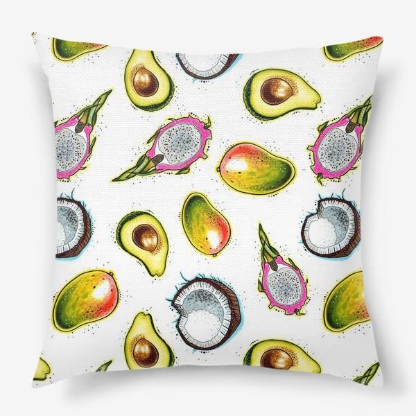 Подушка «Тропические фрукты»