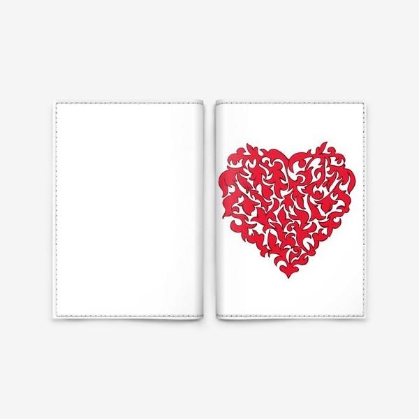 Обложка для паспорта «Красное сердце.»