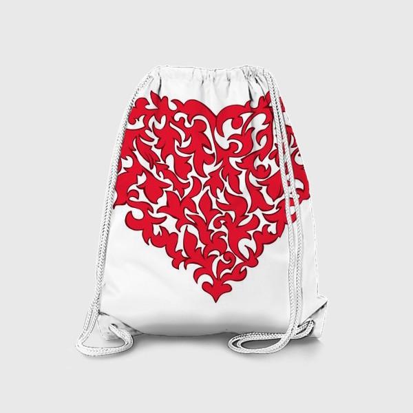 Рюкзак «Красное сердце.»