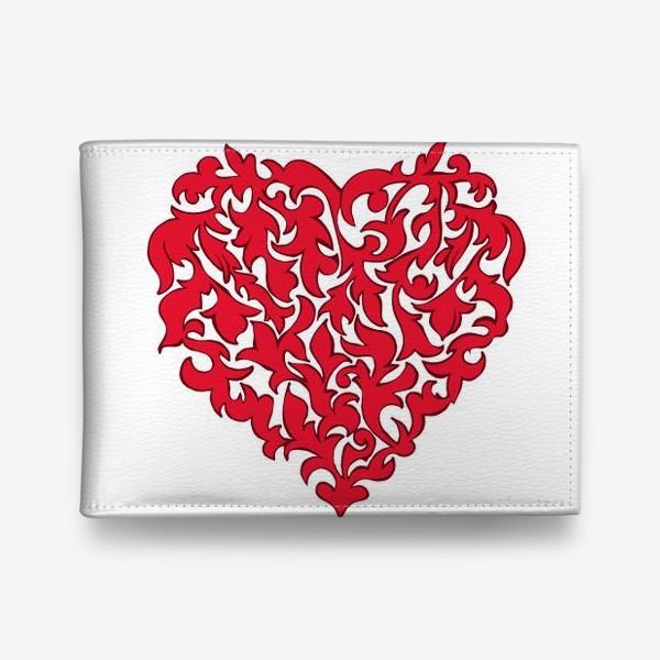 Кошелек «Красное сердце.»