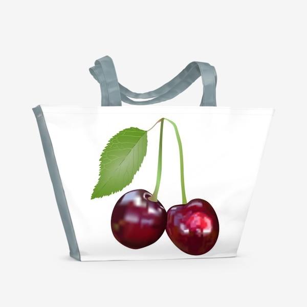 Пляжная сумка «Вишня»