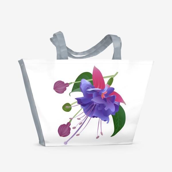 Пляжная сумка «Фуксия.»