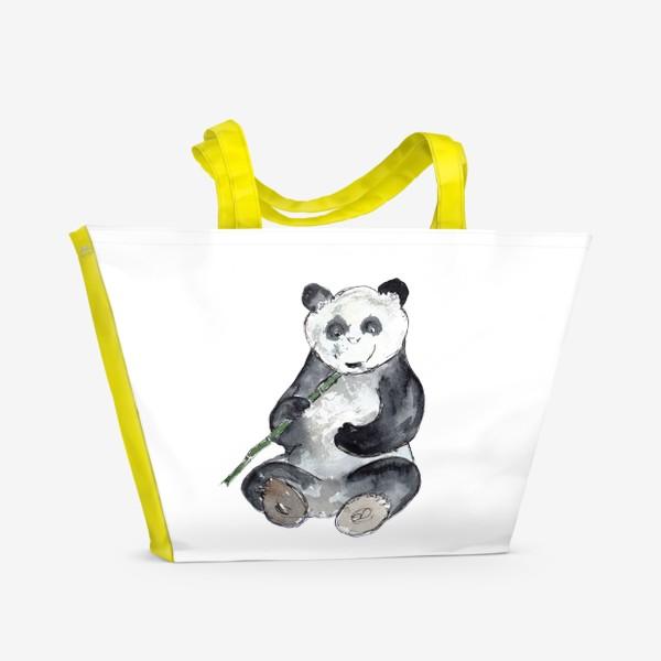Пляжная сумка «Панда. Улыбнись.»