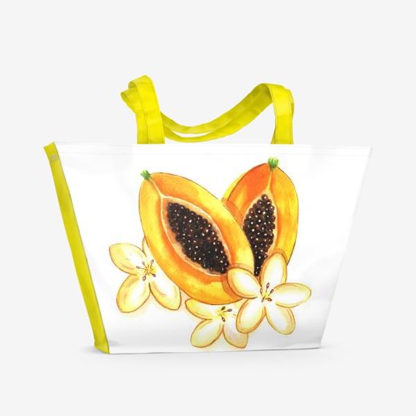 Пляжная сумка «Нежная папайя»