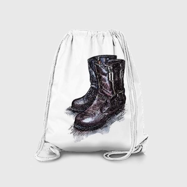Рюкзак «Рок-сапоги с лезвиями»