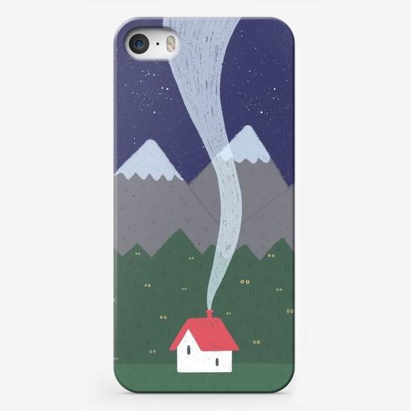 Чехол iPhone «Милый домик. Ночь.»