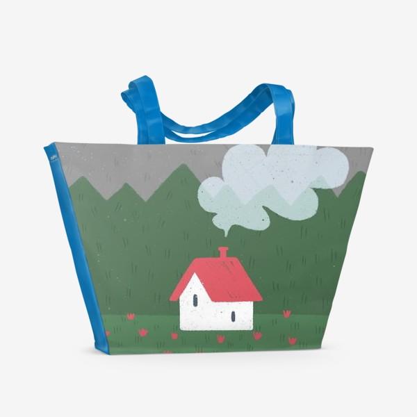 Пляжная сумка «Милый домик. День.»