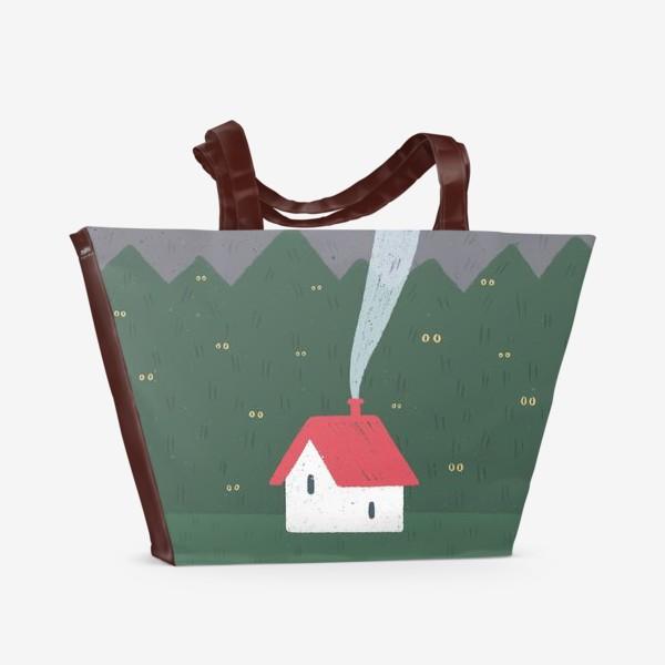 Пляжная сумка «Милый домик. Ночь.»