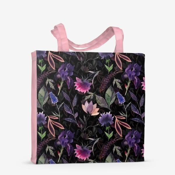 Сумка-шоппер «Flower pattern. Black»