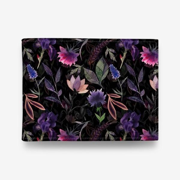 Кошелек «Flower pattern. Black»