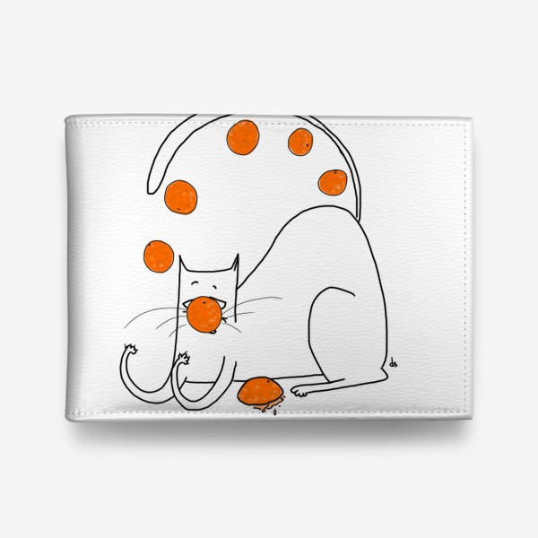 Кошелек «Кот - жонглер апельсинами»
