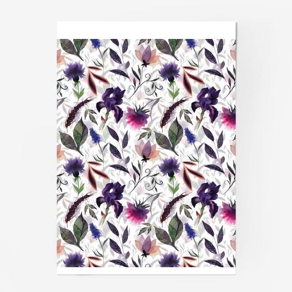 Постер «Flower pattern. White»