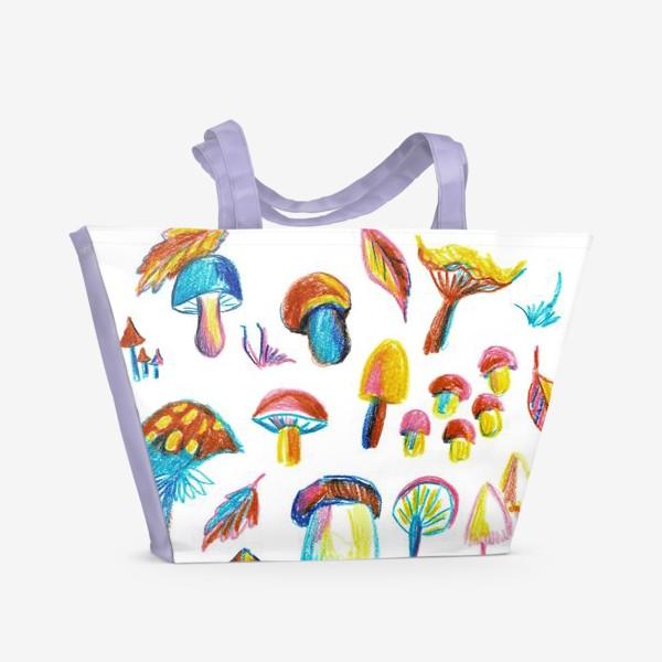 Пляжная сумка «Грибная история»