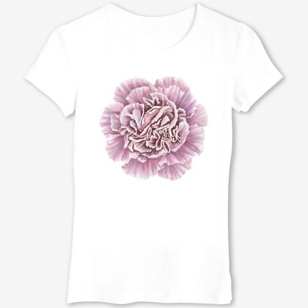 Футболка «Розовая гвоздика цветок Carnation»