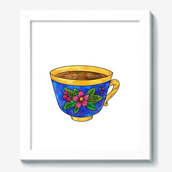 Картина «Синяя чашка с цветами»