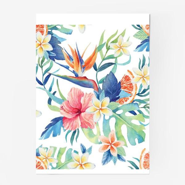 Постер «Тропический паттерн»