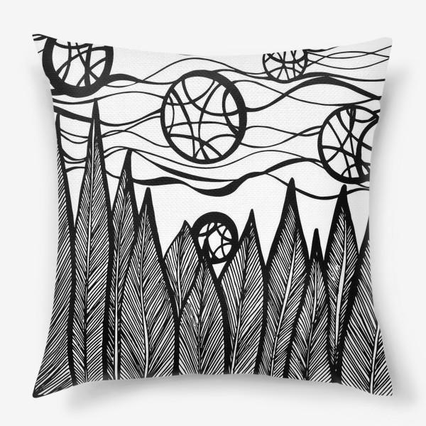 Подушка «Космический лес»
