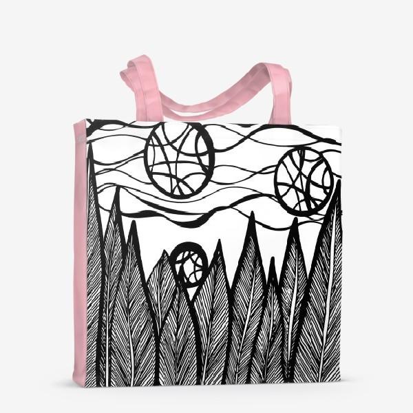 Сумка-шоппер «Космический лес»
