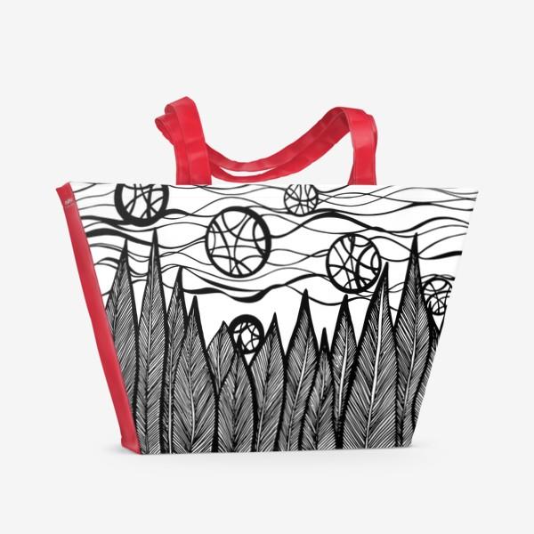 Пляжная сумка «Космический лес»