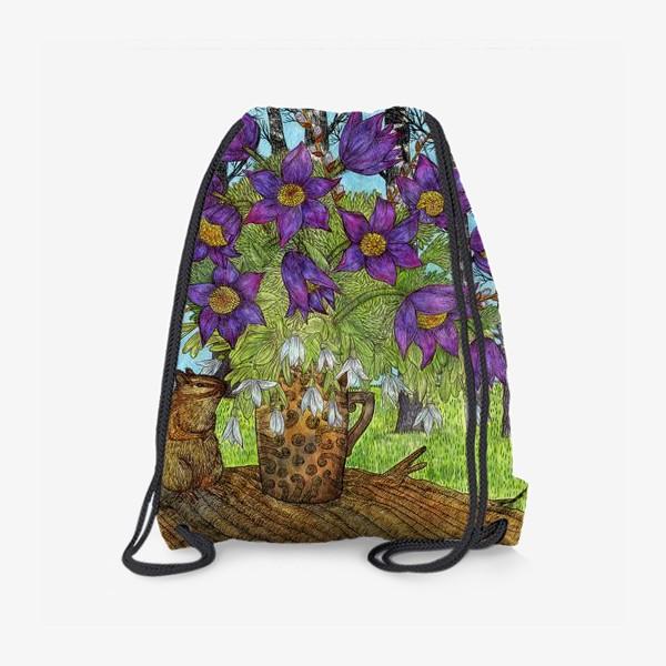 Рюкзак «Лесной букет и хомяк»