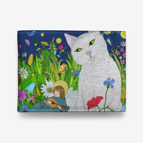 Кошелек «Тихая ночь. Белый кот и анге»