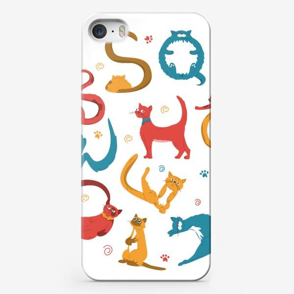 Чехол iPhone «Смешные коты»