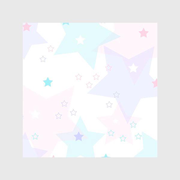 Шторы «Нежные прозрачные звезды. Паттерн.»