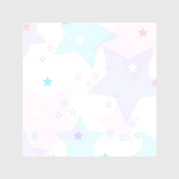 Скатерть «Нежные прозрачные звезды. Паттерн.»