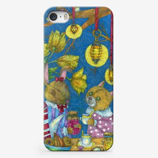 Чехол iPhone «Весеннее чаепитие»