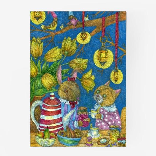 Постер «Весеннее чаепитие»