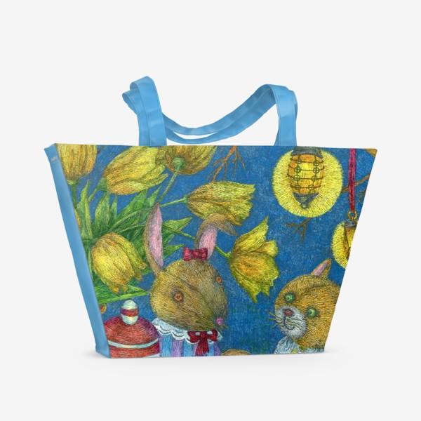 Пляжная сумка «Весеннее чаепитие»
