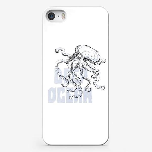 Чехол iPhone «Осьминог. Глубокий океан»