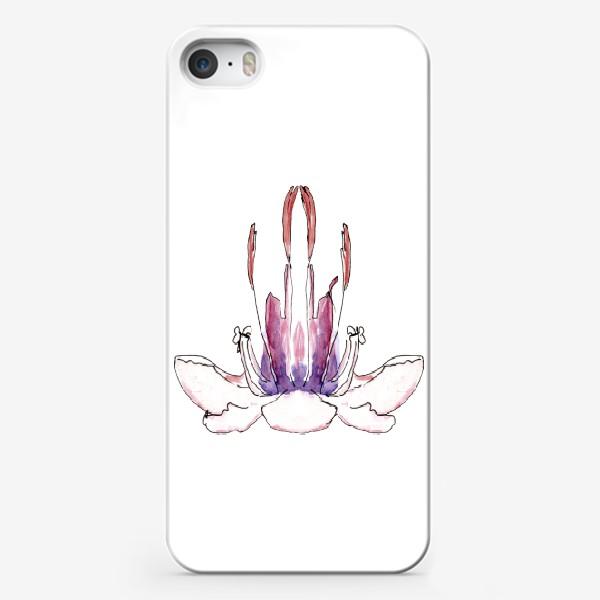 Чехол iPhone «Цветочная йога! Раскрой свой бутон гармонии!»