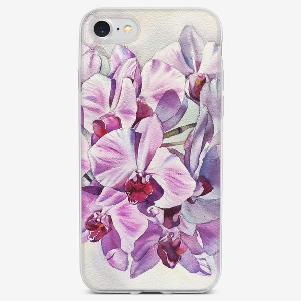 Чехол iPhone «Орхидея Акварель»