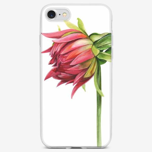 Чехол iPhone «Бутон георгина»