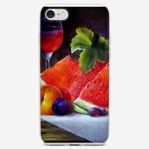 Чехол iPhone «Яркий натюрморт с арбузом»