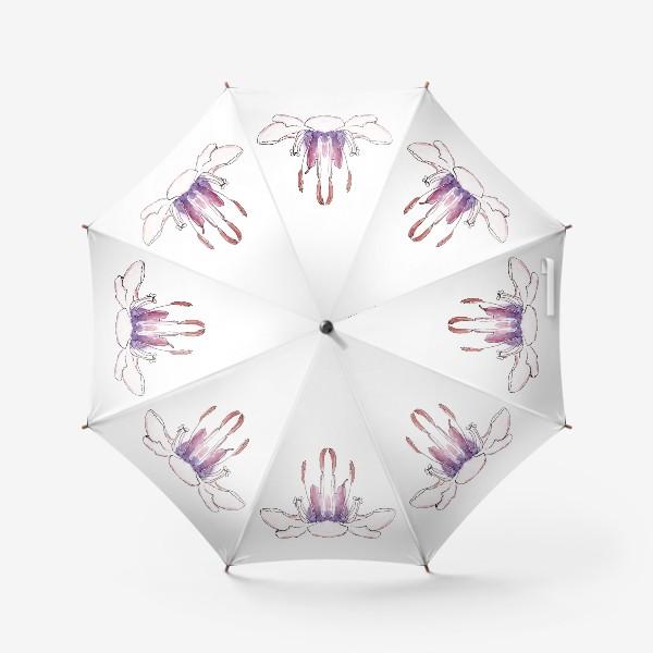 Зонт «Цветочная йога! Раскрой свой бутон гармонии!»