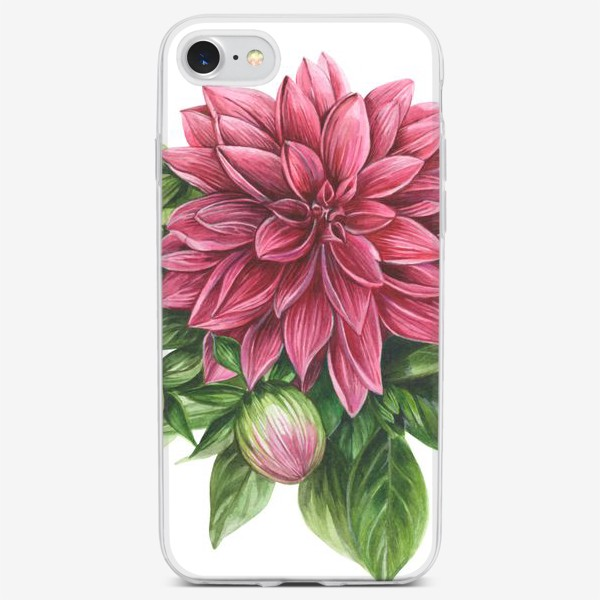 Чехол iPhone «Георгин»