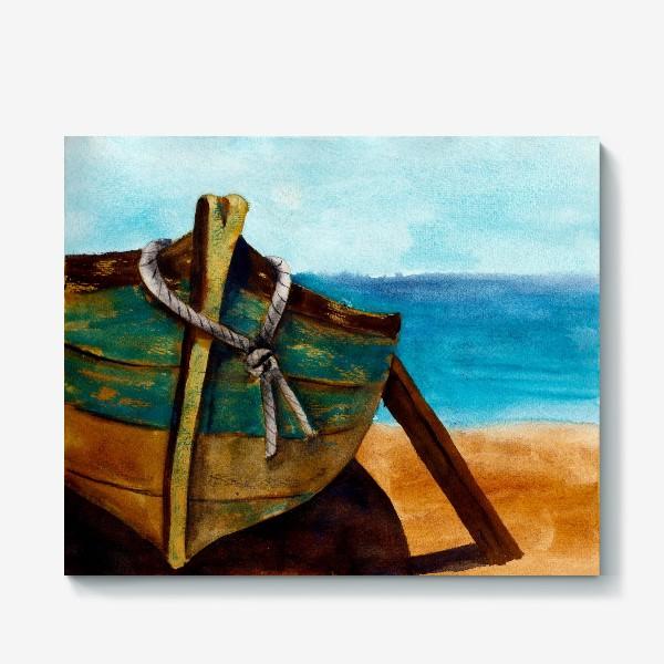 Холст «Старая рыбацкая лодка»