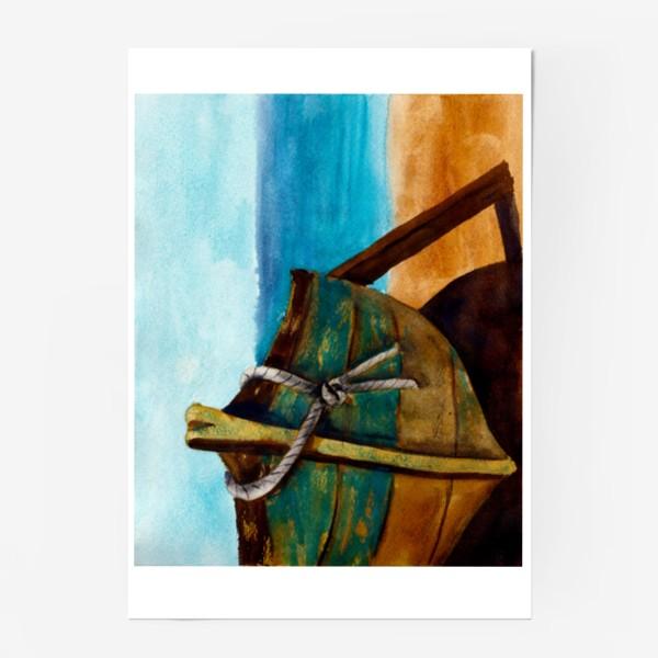 Постер «Старая рыбацкая лодка»