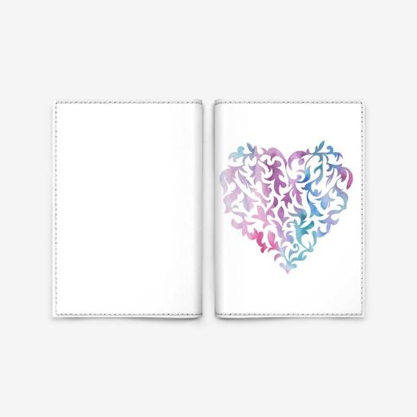Обложка для паспорта «Акварельное сердце.»