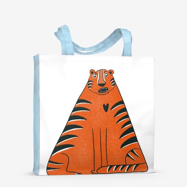 Сумка-шоппер «Треугольный тигр»