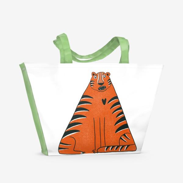 Пляжная сумка «Треугольный тигр»