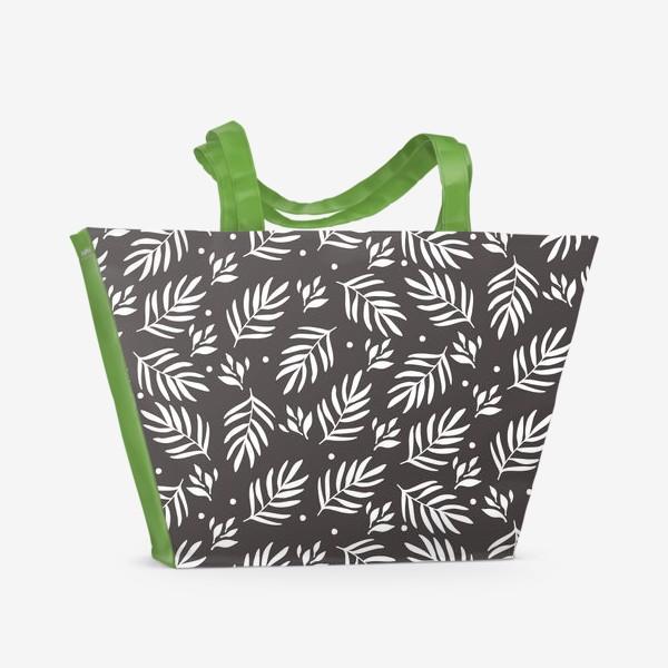 Пляжная сумка «Scandinavian floral pattern»