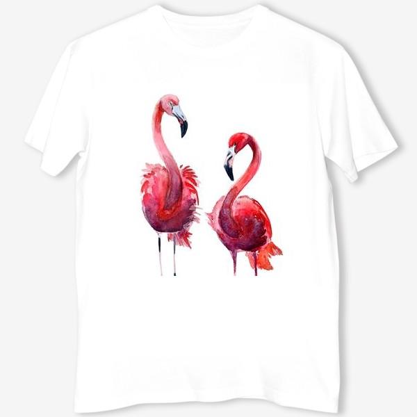 Футболка «Розовые фламинго»