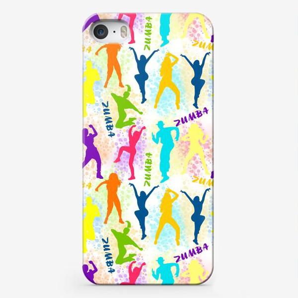 Чехол iPhone «Зумба, танцы, фитнес паттерн»