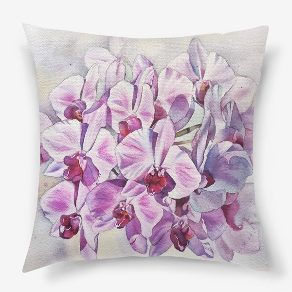 Подушка «Орхидея Акварель»