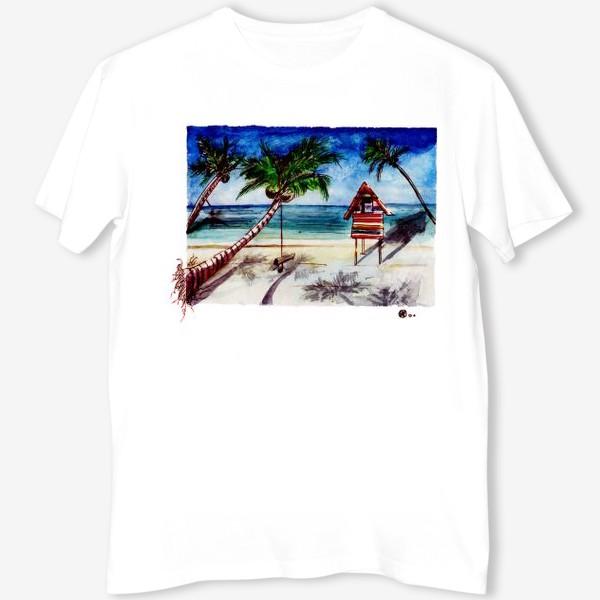Футболка «Пальмы, море, пляж»