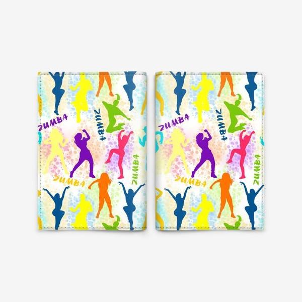 Обложка для паспорта «Зумба, танцы, фитнес паттерн»